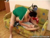 Blonde Girl Struggling While Being Raped