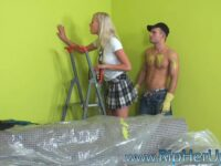 Blonde Babe Raped by Home Improvement Guy